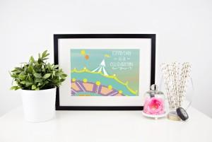 Carousel Nursery Art Print